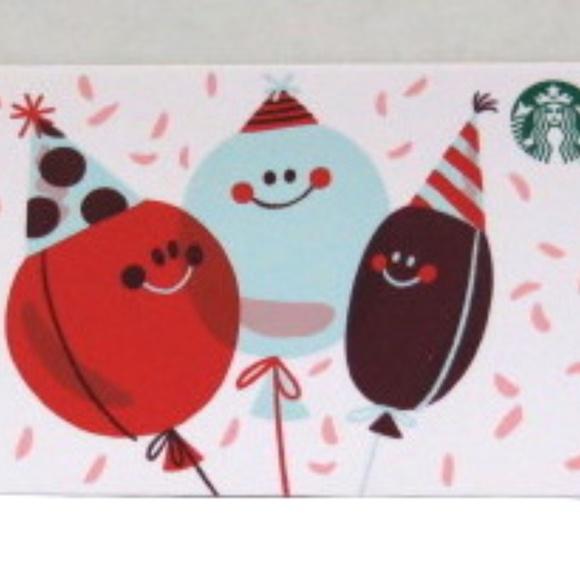 Starbucks 2020 Party Balloons Card NO VALUE